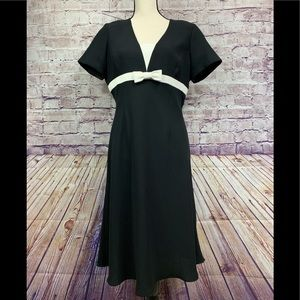 Evan Picone Black Fit and Flare Dress